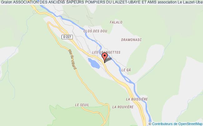 plan association Association Des Anciens Sapeurs Pompiers Du Lauzet-ubaye Et Amis