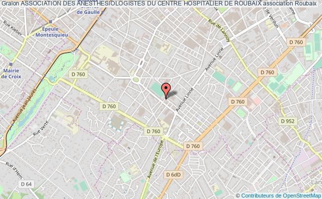 plan association Association Des Anesthesiologistes Du Centre Hospitalier De Roubaix Roubaix