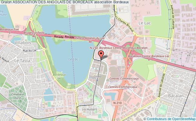 plan association Association Des Angolais De Bordeaux