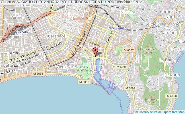 plan association Association Des Antiquaires Et Brocanteurs Du Port