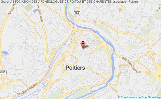 plan association Association Des Archeologues De Poitou Et Des Charentes Poitiers