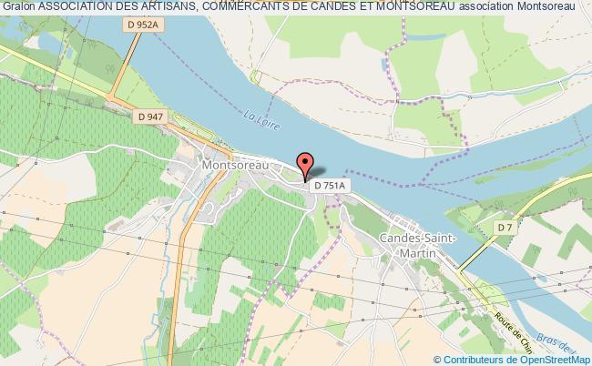 plan association Association Des Artisans, Commercants De Candes Et Montsoreau
