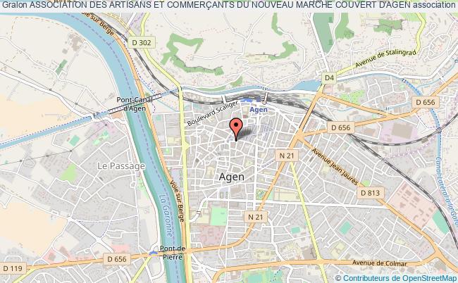 plan association Association Des Artisans Et CommerÇants Du Nouveau Marche Couvert D'agen