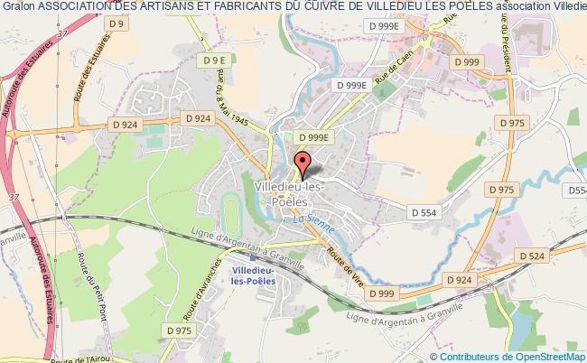plan association Association Des Artisans Et Fabricants Du Cuivre De Villedieu Les Poeles Villedieu-les-Poêles