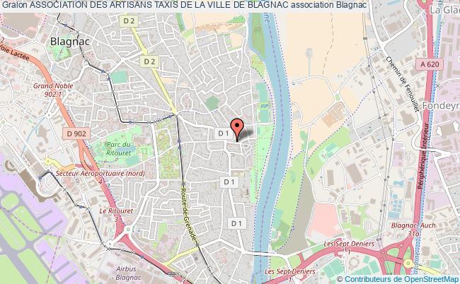 plan association Association Des Artisans Taxis De La Ville De Blagnac
