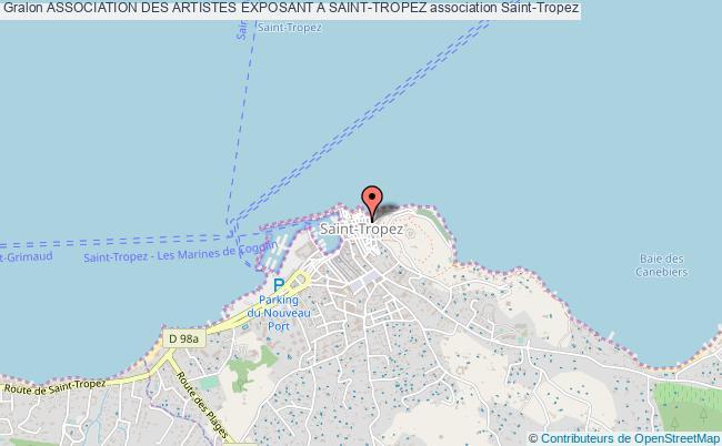 plan association Association Des Artistes Exposant A Saint-tropez