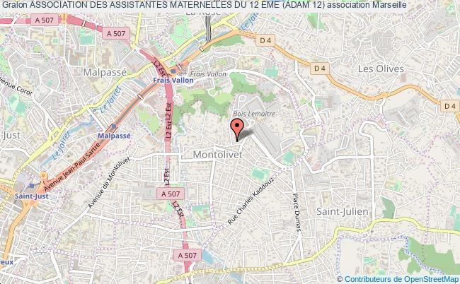 plan association Association Des Assistantes Maternelles Du 12 Eme (adam 12) Marseille