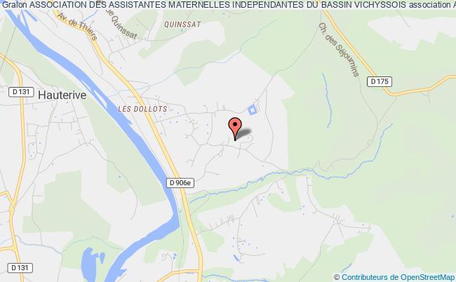plan association Association Des Assistantes Maternelles Independantes Du Bassin Vichyssois
