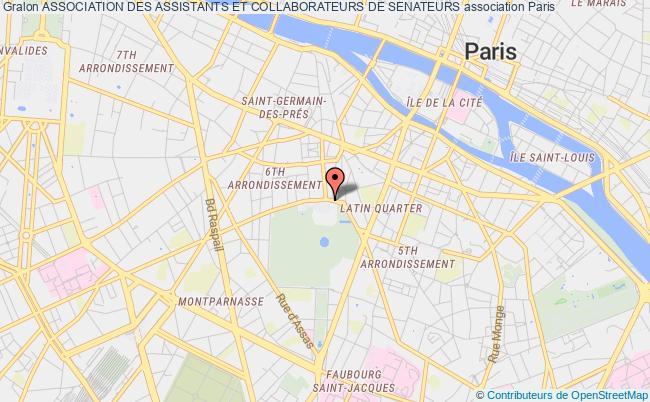 plan association Association Des Assistants Et Collaborateurs De Senateurs Paris