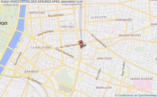 plan association Association Des AssurÉs April Lyon