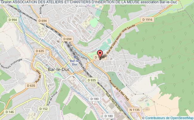plan association Association Des Ateliers Et Chantiers D'insertion De La Meuse