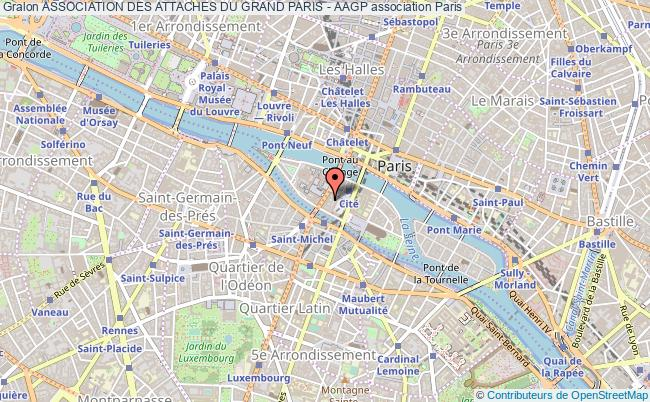 plan association Association Des Attaches Du Grand Paris - Aagp