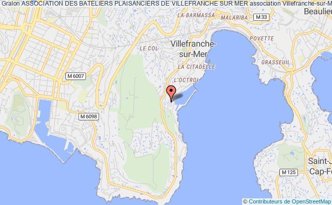 plan association Association Des Bateliers Plaisanciers De Villefranche Sur Mer Villefranche-sur-Mer