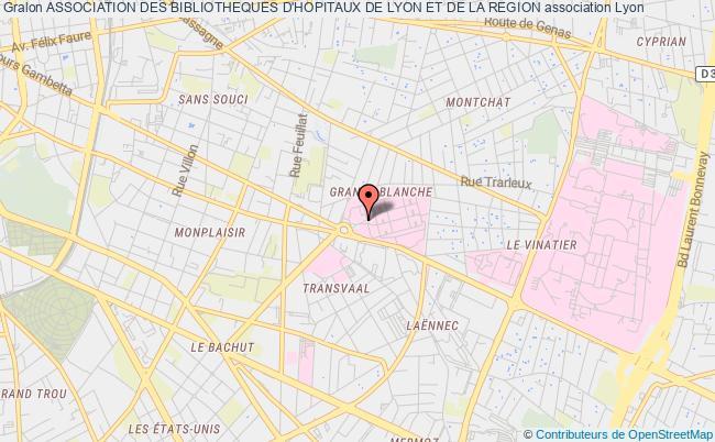 plan association Association Des Bibliotheques D'hopitaux De Lyon Et De La Region