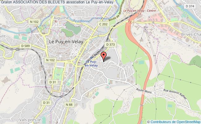 plan association Association Des Bleuets Le Puy-en-Velay