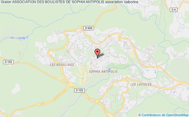 plan association Association Des Boulistes De Sophia Antipolis
