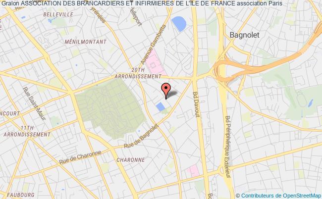 plan association Association Des Brancardiers Et Infirmieres De L'ile De France