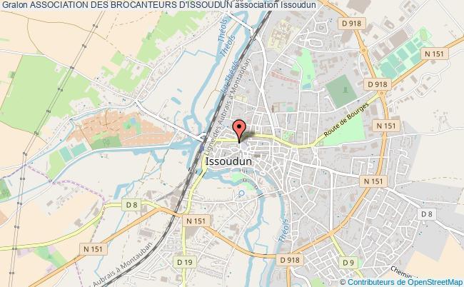 plan association Association Des Brocanteurs D'issoudun Issoudun