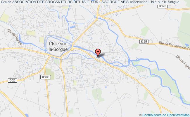 plan association Association Des Brocanteurs De L Isle Sur La Sorgue Abis