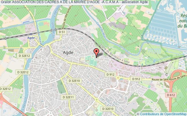 plan association Association Des Cadres A De La Mairie D'agde -a.c.a.m.a - Agde