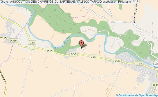 plan association Association Des Campings Du Sartenais Valinco Taravo Propriano