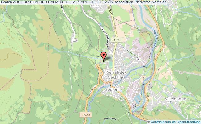 plan association Association Des Canaux De La Plaine De St Savin Pierrefitte-Nestalas