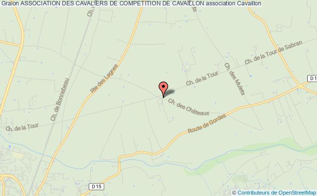 plan association Association Des Cavaliers De Competition De Cavaillon