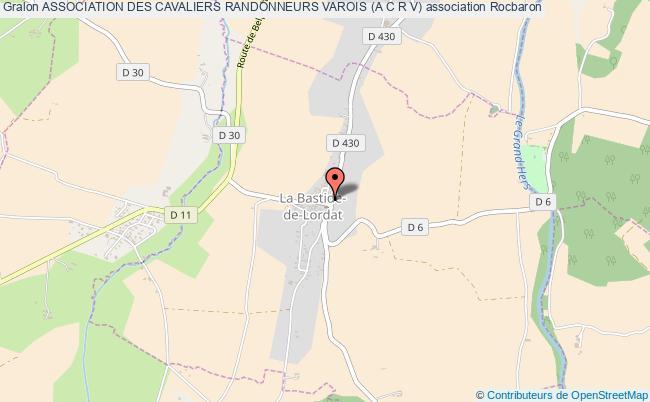 plan association Association Des Cavaliers Randonneurs Varois (a C R V) Rocbaron