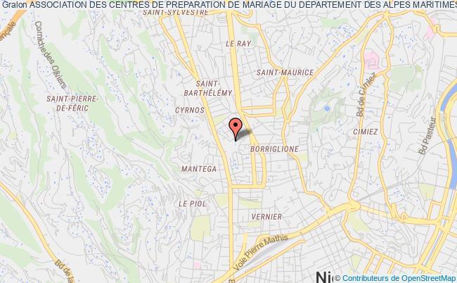 plan association Association Des Centres De Preparation De Mariage Du Departement Des Alpes Maritimes Nice