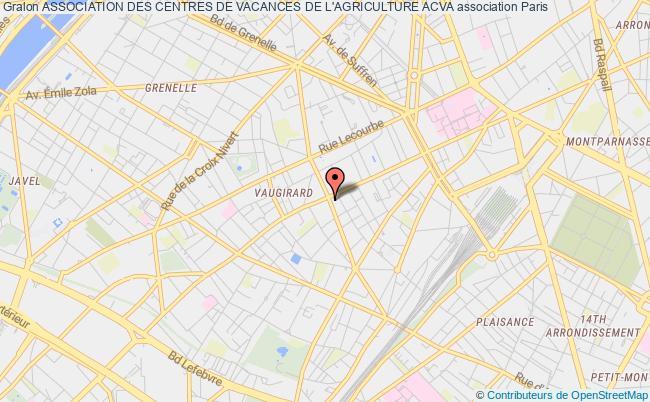 plan association Association Des Centres De Vacances De L'agriculture Acva Paris 15e