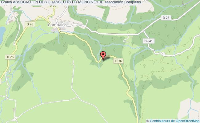 plan association Association Des Chasseurs Du Moncineyre