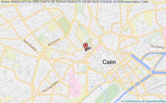 plan association Association Des Chefs De Departements Genie Biologique Acdgb