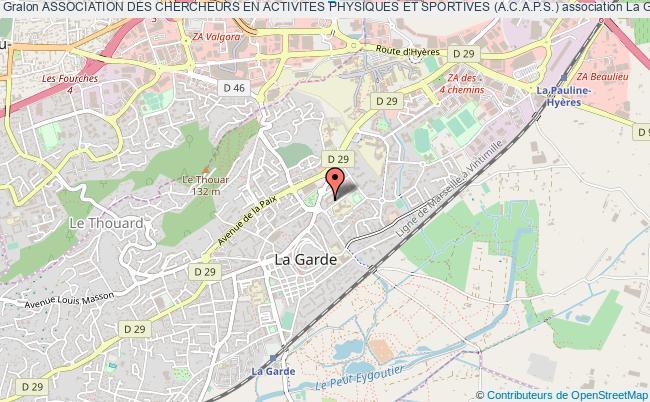 plan association Association Des Chercheurs En Activites Physiques Et Sportives (a.c.a.p.s.)