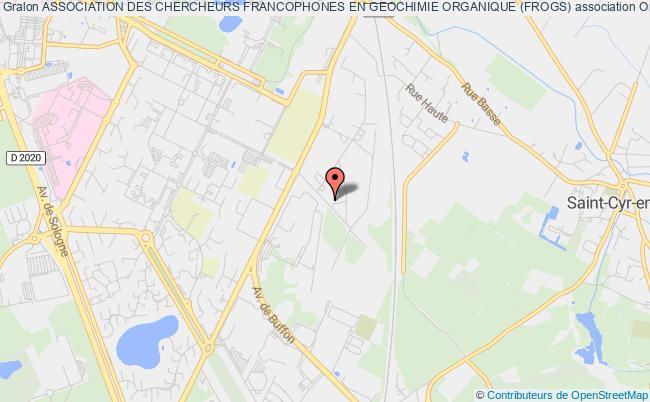 plan association Association Des Chercheurs Francophones En Geochimie Organique (frogs)