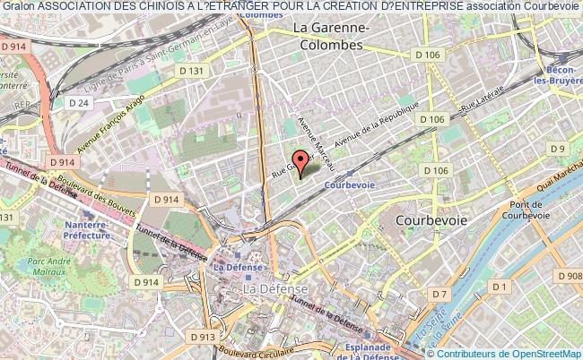 plan association Association Des Chinois A L?etranger Pour La Creation D?entreprise Courbevoie