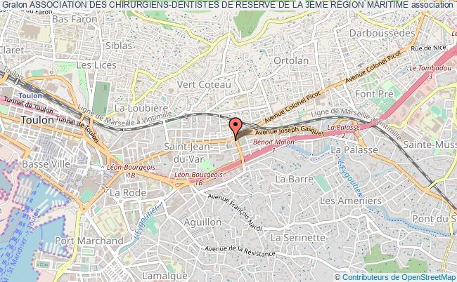 plan association Association Des Chirurgiens-dentistes De Reserve De La 3eme Region Maritime