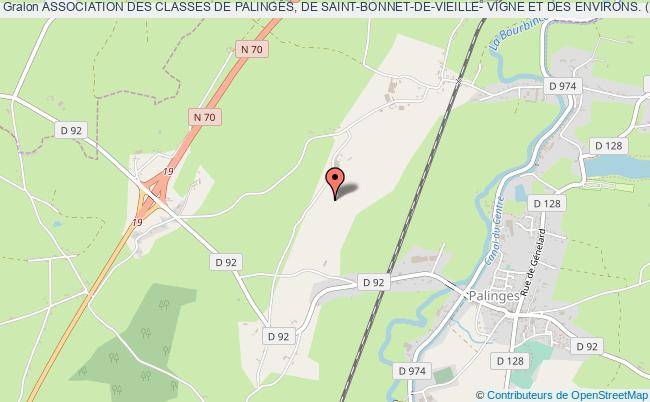 plan association Association Des Classes De Palinges, De Saint-bonnet-de-vieille- Vigne Et Des Environs. (pa)