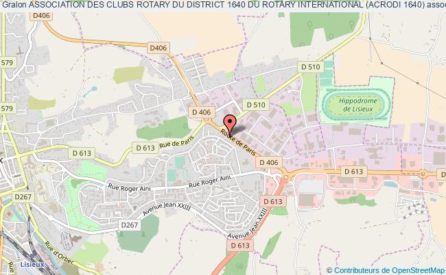 plan association Association Des Clubs Rotary Du District 1640 Du Rotary International (acrodi 1640)