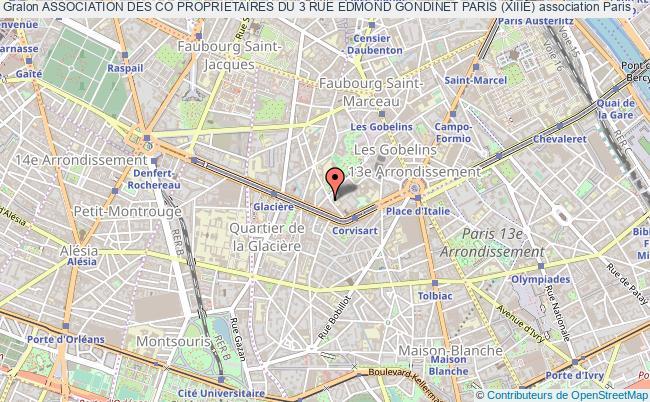 plan association Association Des Co Proprietaires Du 3 Rue Edmond Gondinet Paris (xiiiÈ)