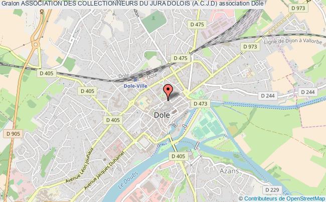 plan association Association Des Collectionneurs Du Jura Dolois (a.c.j.d) Dole