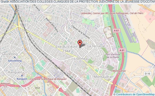 plan association Association Des Colleges Cliniques De La Protection Judiciaire De La Jeunesse D'occitanie (accpjjo) Toulouse