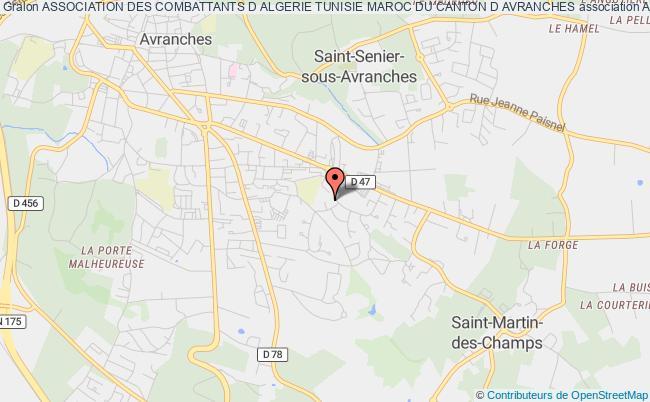 plan association Association Des Combattants D Algerie Tunisie Maroc Du Canton D Avranches