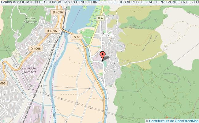 plan association Association Des Combattants D'indochine Et T.o.e. Des Alpes De Haute Provence (a.c.i.-t.o.e.-04)