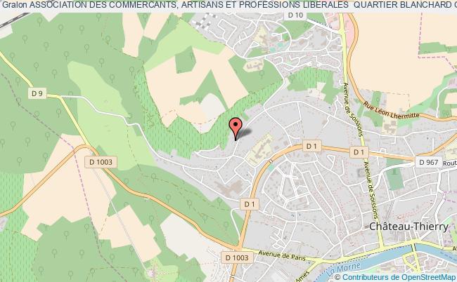 plan association Association Des Commercants, Artisans Et Professions Liberales  Quartier Blanchard Chateau-thierry