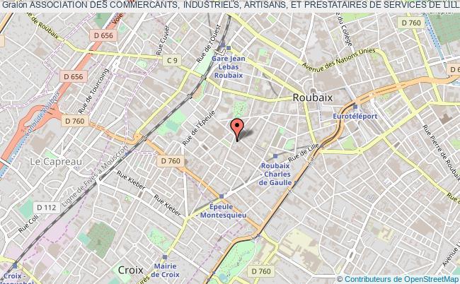 plan association Association Des Commercants, Industriels, Artisans, Et Prestataires De Services De Lille Metropole (aciap) Roubaix