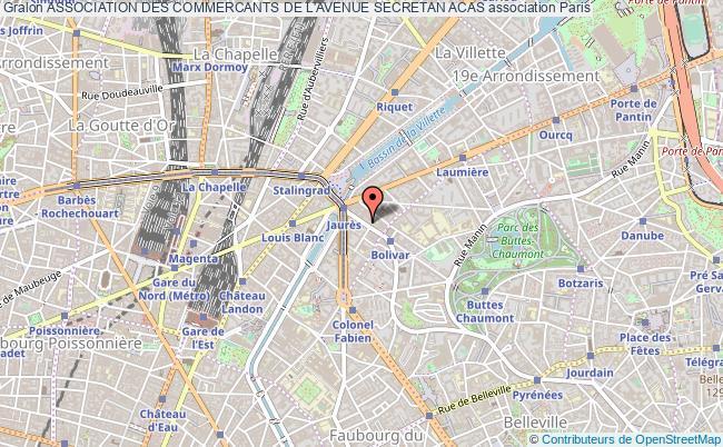 plan association Association Des Commercants De L'avenue Secretan Acas