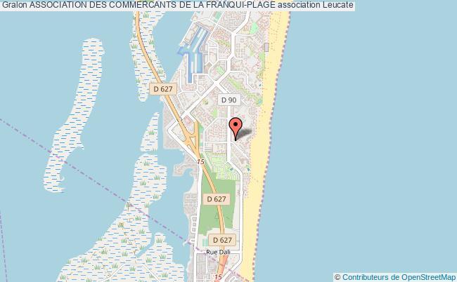 plan association Association Des Commercants De La Franqui-plage Leucate