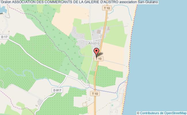 plan association Association Des Commercants De La Galerie D'alistro