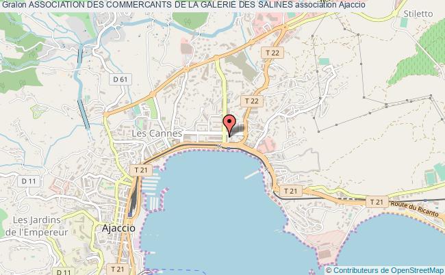 plan association Association Des Commercants De La Galerie Des Salines