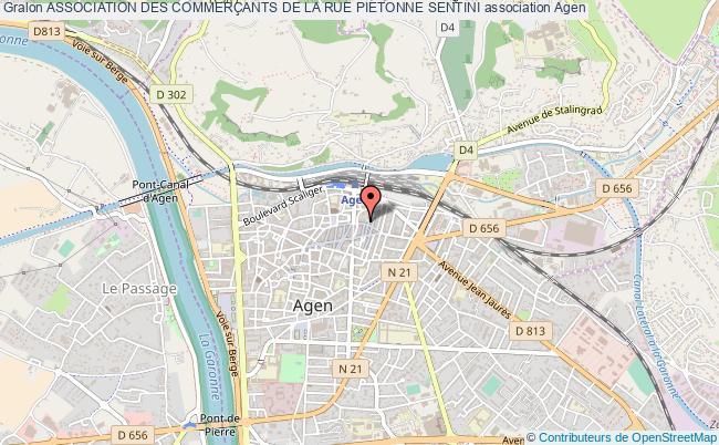 plan association Association Des CommerÇants De La Rue Pietonne Sentini